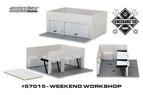 Weekend Workshop Create Your Own, White - Greenlight 57015 - 1/64 Scale Diecast Model Toy Car
