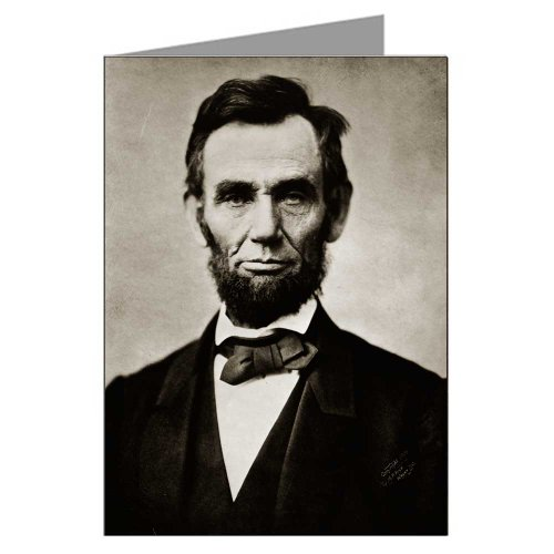 (Single Greeting Card of Abraham Lincoln from a Photograph by Alexander Gardner c1863)