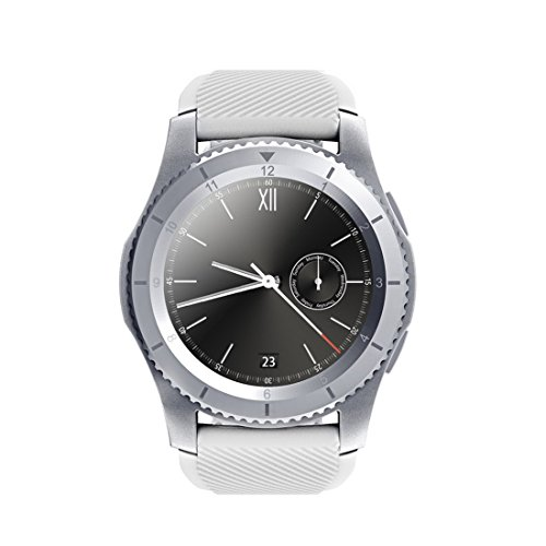 G8 Smartwatch Bluetooth 4.0 SIM Call Message Reminder Heart Rate Monitor Smart watchs For Android IOS, Silver by PINCHU