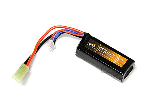 Lancer Tactical 11.1v 900mAh LiPO Stick Battery 3s 30c - Lithium Polymer 3-Cell Battery for Airsoft Guns & Hobby Toys