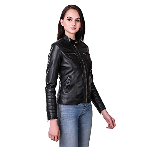 Leather Retail® Women #39;s Full Sleeve Solid Jacket