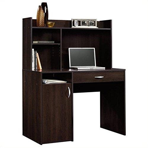 042666111553 - Sauder Beginnings Desk with Hutch, Cinnamon Cherry Finish carousel main 0