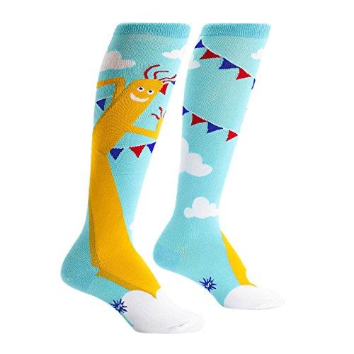 Sock It To Me Wacky Waving Guy Women's Knee High Socks