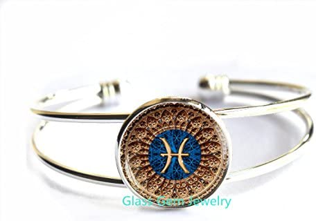 faux suede or dIstressed leather Pisces jewelry unisex fish sign Pisces gifts adjustable Pisces Bracelet 1 size fits all Zodiac Sign