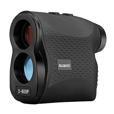 SUAOKI Golf Range Finder Laser Rangefinder 656 Yards/600 Meters Flag-Lock, Fog, Distance, Speed Measurement, Black