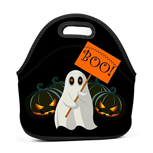 RODONO Happy Halloween Haunted Clipart Boo Lunch Bag Tote Bag Lunch Organizer Lunch Holder Lunch Container
