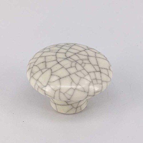 Vita Hardware Porcelain Knobs Kitchen Cabinet Knobs Dresser Drawer Knobs Pulls Handles Crackle Furniture handles Pack of 5