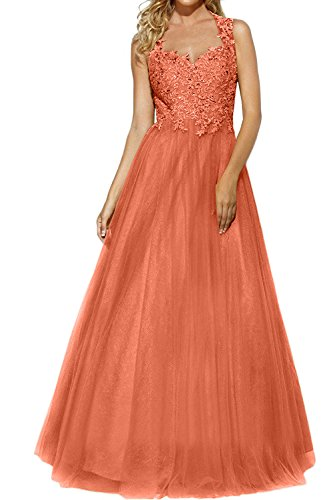 Abschlussballkleider Rock mia Ballkleider Glamour Abendkleider La Brautmutterkleider Spitze Orange Tuell Brau Promkleider Prinzess P1x4xqzn