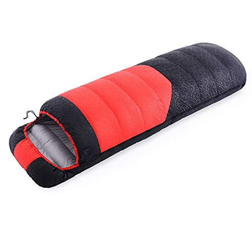 FELICIFF Portable Outdoor Single Stitching Down Sleeping Bag Warm Down Sleeping Bag (Color : Red)