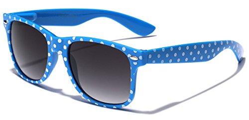 Polka Dot Retro Fashion Sunglasses - 100% UV400 - Blue