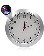 Hidden Camera, Wall Clock Spy Camera HD 1080P Clock Camera Surveillance Video Camera Nanny Cam with PIR Motion Detection, Indoor Security Camera for Home, Room and Office, No WiFi Needed