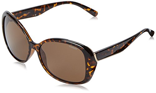 Polaroid Sunglasses Women's Pld4023s Polarized Oval Sunglasses, Havana/Brown, 58 - By Polaroid Sunglasses