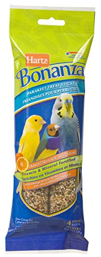 Hartz Bonanza Parakeet Bird Treat Sticks - Orange Citrus - 4 - Treat Sticks Citrus