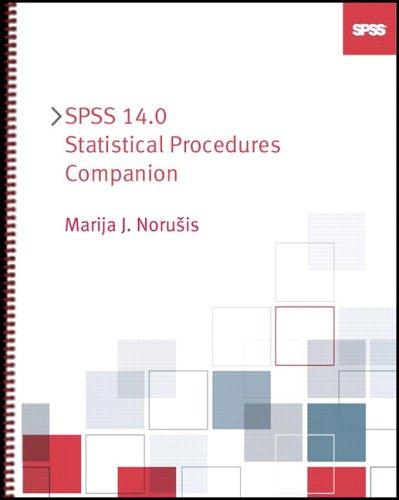 SPSS 14.0 Statistical Procedures Companion