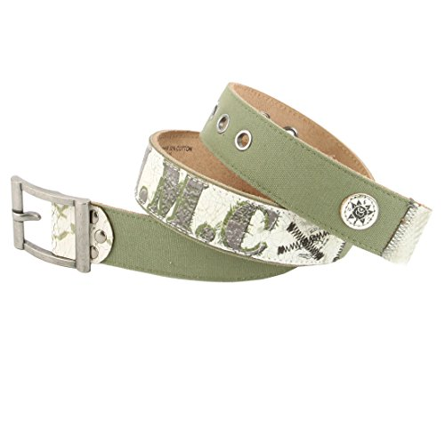 Ed Hardy EH3345 Womens Salute Canvas/Leather Belt (Ed Hardy Fashion Belt)