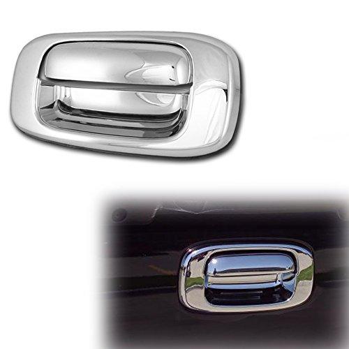 Tailgate Chrome Handle Silverado (AutoModZone Chrome ABS Tailgate Door Handle Cover Trim w/o Keyhole for 99-06 Chevy Silverado / 02-06 Avalanche / 02-06 Cadillac Escalade / 99-06 GMC Sierra)