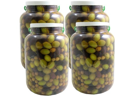 Assorted Spanish Olive Mix (Food Service Size) (Case of 4 - 141 Ounce Jars) by Romanico