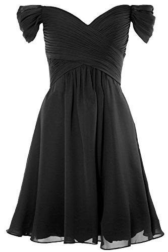 Shoulder 2018 Women Cocktail Off Dress Wedding Gown MACloth Formal Party Schwarz Short wBqEA