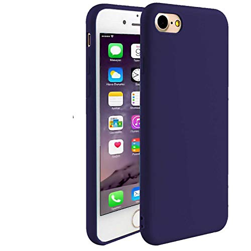 iBarbe iPhone 6S Plus Case iPhone 6 Plus (5.5 inch) Case,TPU Full proff Bumper Cover with Ultra Slim & Rugged Fit Shock Bumper Anti-Scratch Silicone Mobile Phone Case for iPhone 6/6S Plus-Darkblue ()