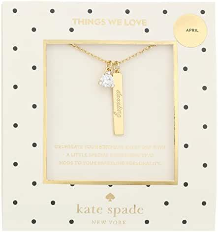 kate spade new york April Clear Pendant Necklace