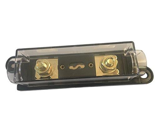 Gold Holder Fuse Plated (KOLACEN ANL Gold Plated Fuse 100 Amp + ANL Fuse Holder Black 1 Pack)