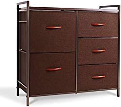 related image of ROMOON Dresser Organizer with 5 Drawers, Fabric