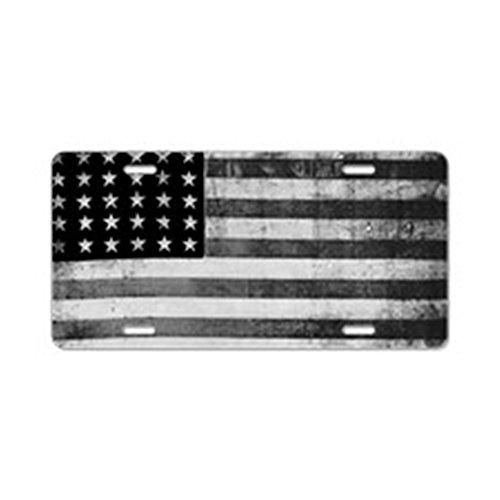 CafePress - American Vintage Flag Black - Aluminum License Plate, Front License Plate, Vanity Tag