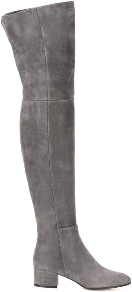 Zidao Para mujer Rodilla Botas, Botas Damas Otoño Invierno Moda de Nueva Con el Brass PRHZv