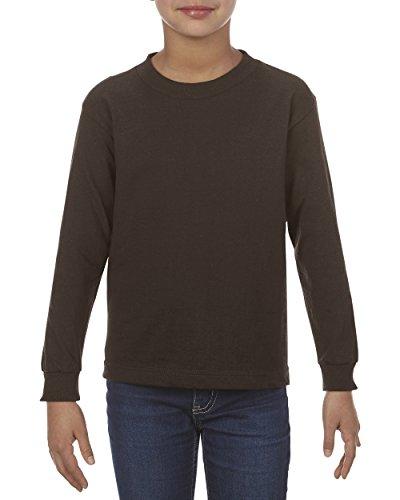Alstyle Apparel AAA Little Kids' Juvy Classic Long Sleeve T-Shirt, Dark Chocolate, 5/6 - Chocolate Brown Kids Big Apparel