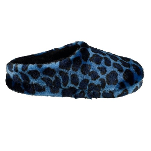 Platform Argyle Royal Leopard Pile Slipper Dearfoams Women's qf4HWwt
