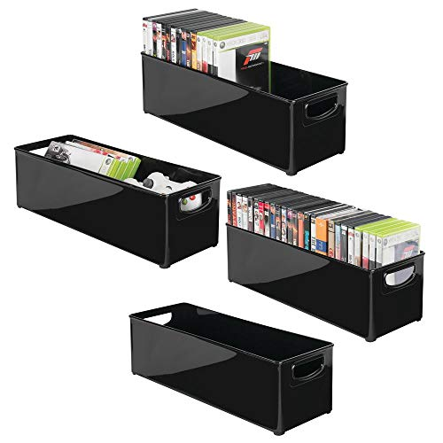 mDesign Plastic Stackable Household Storage Organizer Container