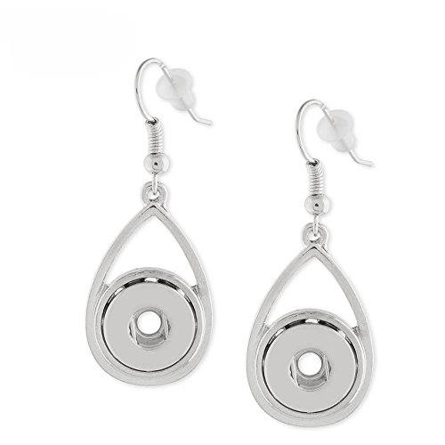 Dot Jewelry (Snap Charm Earrings for Mini Petite Snaps 12mm (1/2