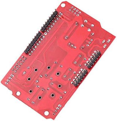 Calloy JoyStick Shield 模擬 キーボードとマウス用 ゲームパッド ジョイスティックシールドV1 拡張ボード赤Arduino 収納ボックス付き