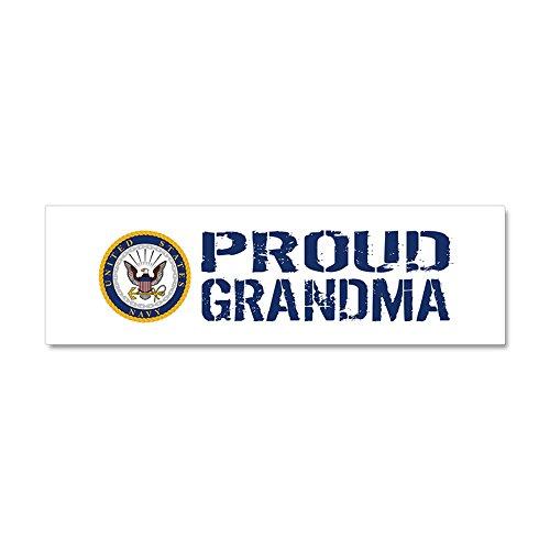CafePress - U.S. Navy: Proud Grandma (Blue & - Car Magnet 10 x 3, Magnetic Bumper Sticker Navy Car Magnets