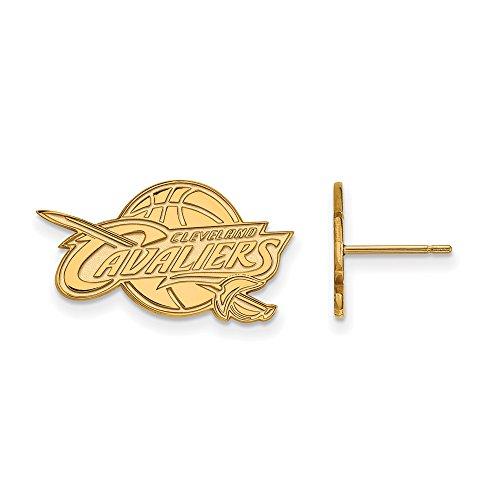 NBA Cleveland Cavs Post Earrings in 10K Yellow Gold by LogoArt