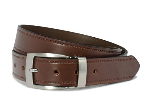 Nickel Free Elk Knob Brown Belt (42 - Brown Elk