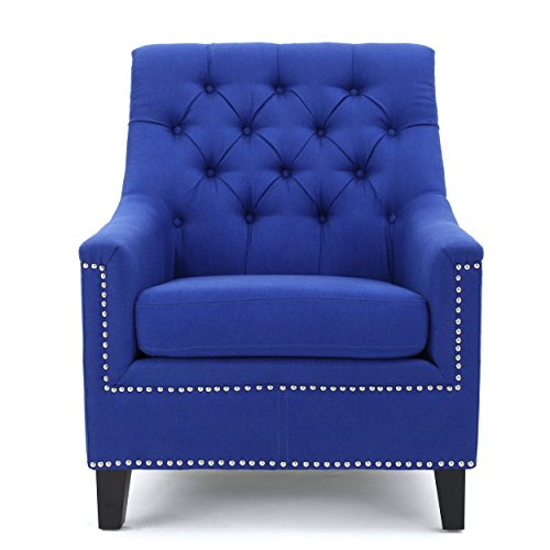 ric Tufted Club Chair (Royal Blue Chair)