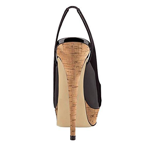 Tacco Col Donna Eks wood Black Scarpe vEAv7xT