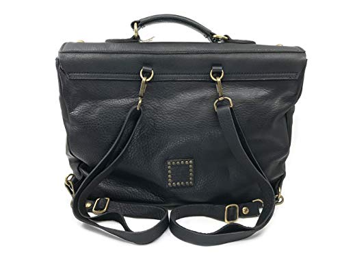 Borsa Shopping Nera C008400 In 0334 Campomaggi Zaino Black Pelle wzEpnq