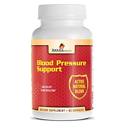 Akazia Health Blood Pressure Supplement With Hawthorn, Odourless Garlic Uva Ursi and Vitamins 60 Capsules