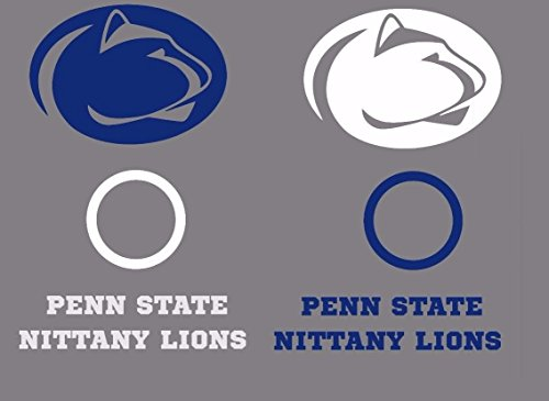 Penn State Nittany Lions Cornhole Decal Set - 6 Cornhole Decals Free Circles