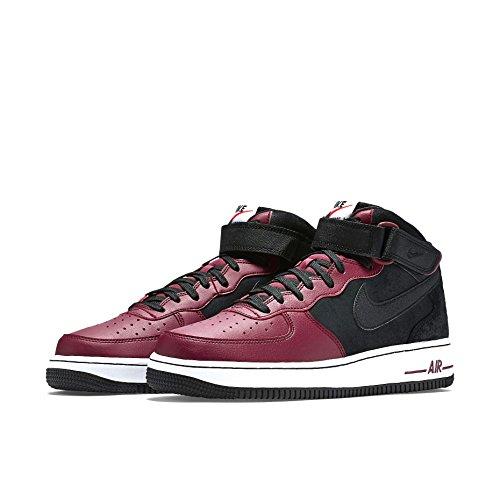 Nike Air Force 1 Mid 07, Scarpe da Basket Uomo Multicolore (Nero/Nero Team/Rosso/Bianco)