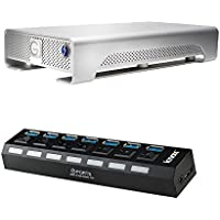 G-Technology G-DRIVE with Thunderbolt USB 3.0 4TB 7200 RPM Professional-Strength External Hard Drive + 7-Port USB 3.0 Hub with Individual Power Switch