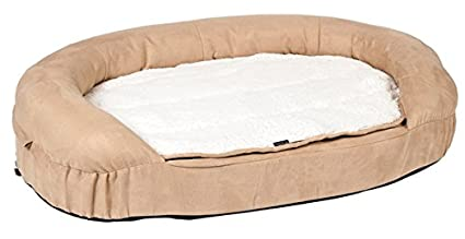 Karlie 10042 ortopédico perro cama Oval 72 x 50 x 20 cm, color beige: Amazon.es: Productos para mascotas