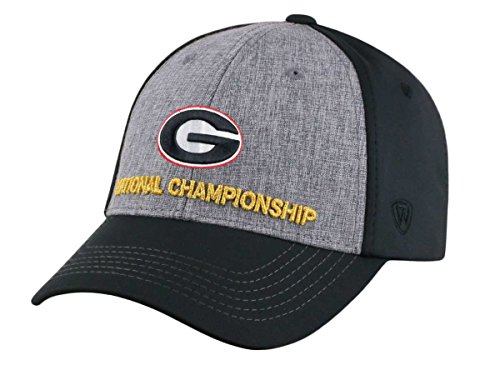Georgia Bulldogs National Championship - Top of the World Georgia Bulldogs TOW 2018 National Championship Game Structured Flexfit Hat Cap
