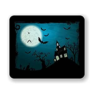 Halloween Bats and Spooky House Mouse Pad