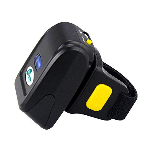 BAOSHARE Ring Barcode Scanner Portable Bluetooth Mini 1D 2D QR Bar Code Reader Support for Windows, Mac OS, Android 4.0+, iOS