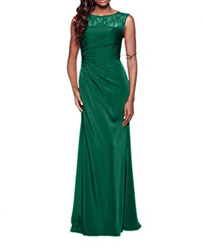 Abendkleider Elegant Jaeger Chiffon Linie Charmant Ballkleider Abschlussballkleider Gruen Lang Festlichkleider Blau A Damen xO4Fq1B