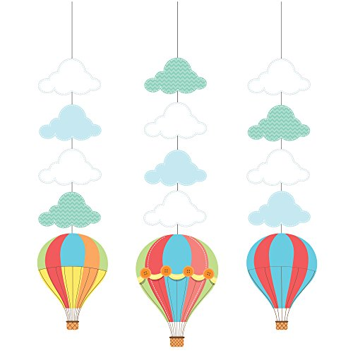 Creative Converting Up, Up & Away Hanging Cutouts (3 Count)