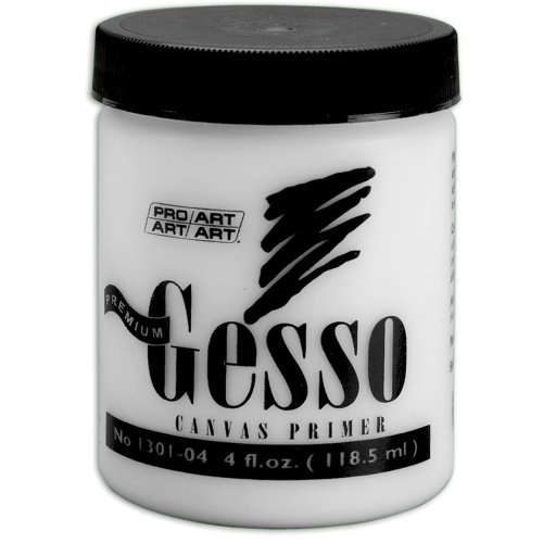 Pro-Art 4-Ounce Premium Gesso Canvas Primer (Best Gesso For Art Journaling)